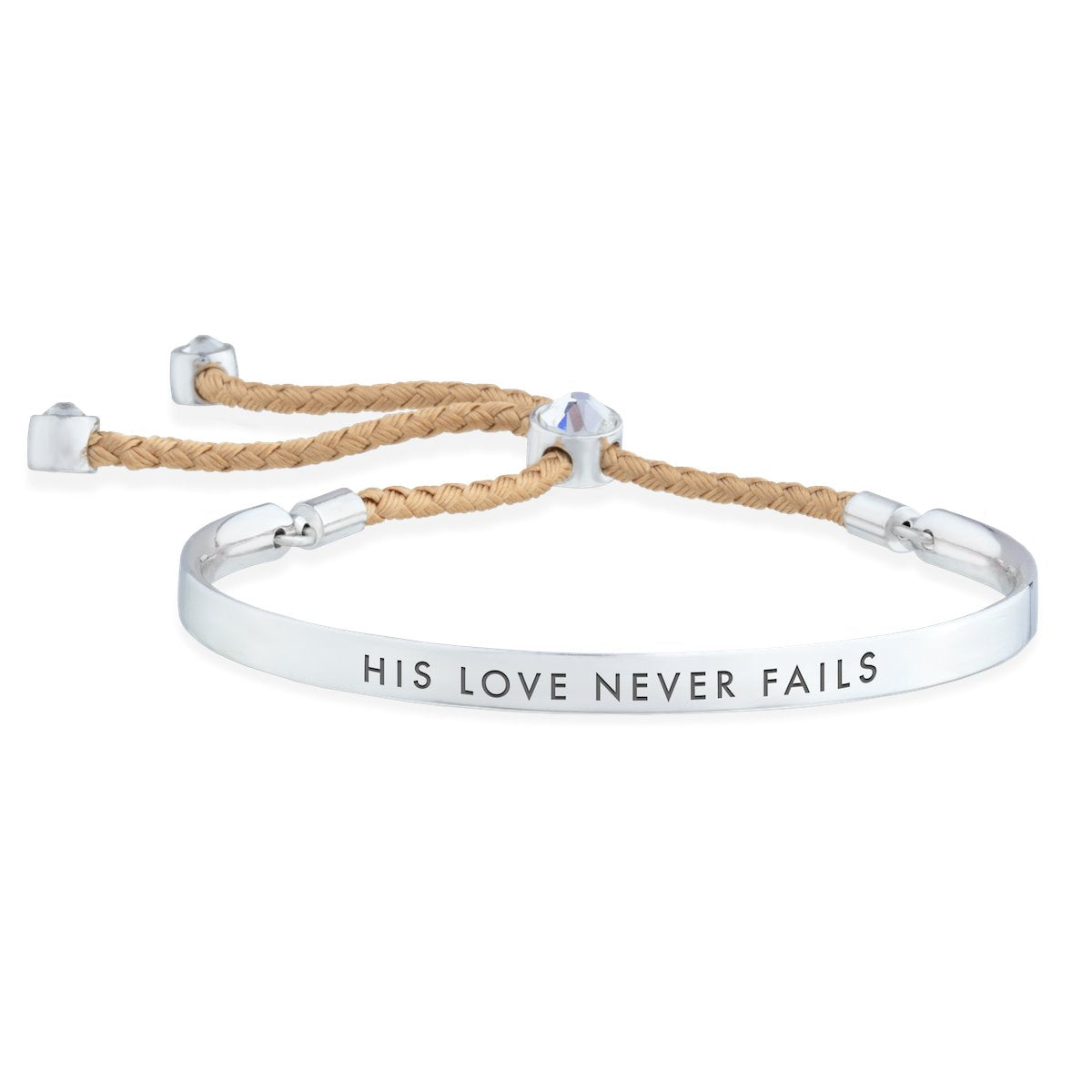 His Love Never Fails – Words of Empowerment Bracelet forevercrystals