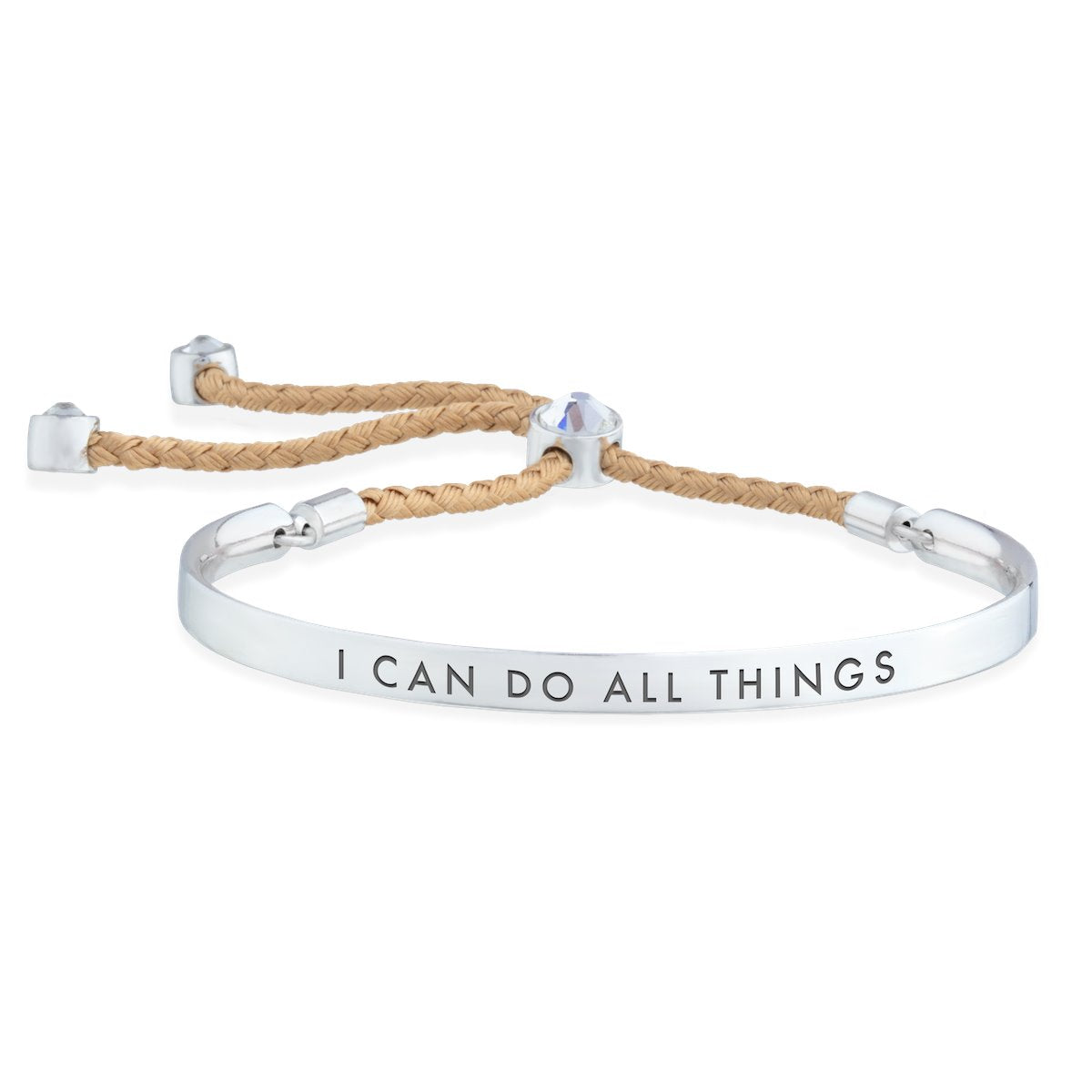 I Can Do All Things – Words of Empowerment Bracelet forevercrystals
