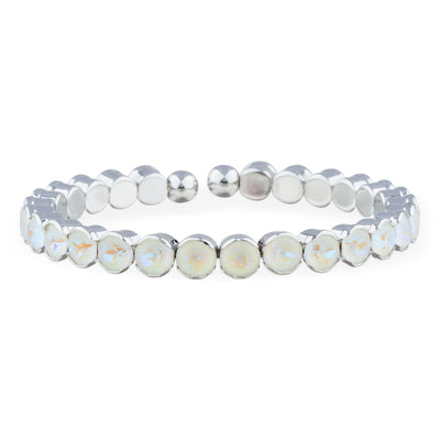 Ibiza Bangle forevercrystals Light Grey Delite