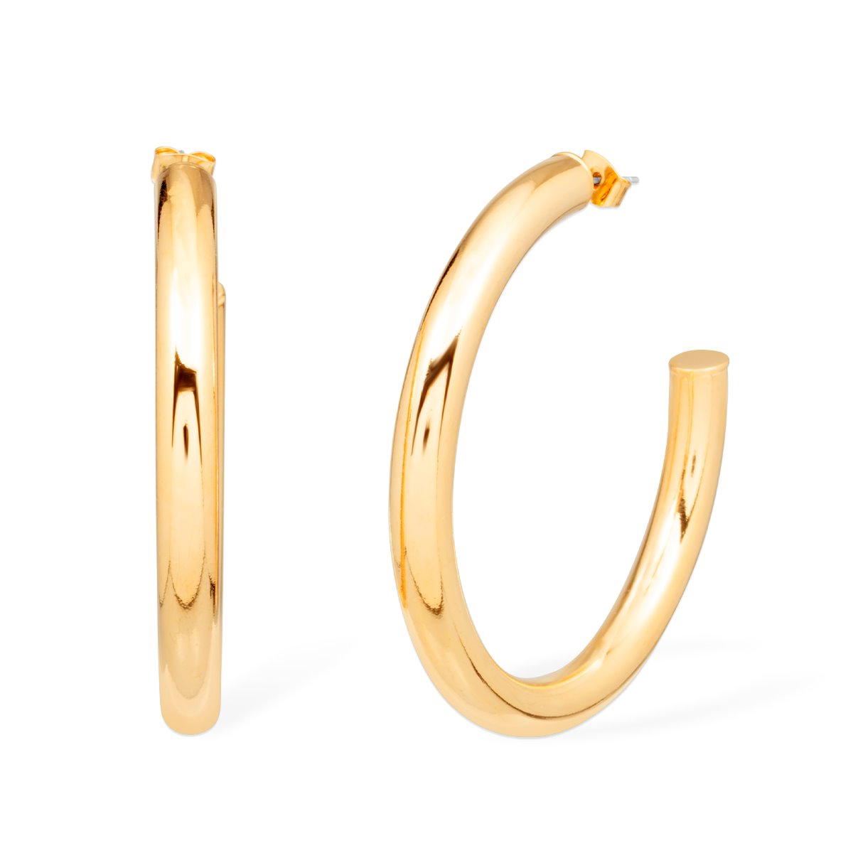 Jennifer Hoop Earrings forevercrystals Gold