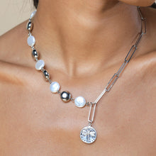 Load image into Gallery viewer, Joanna Pearl Necklace Silver FOREVER LINKED FOREVER CRYSTALS