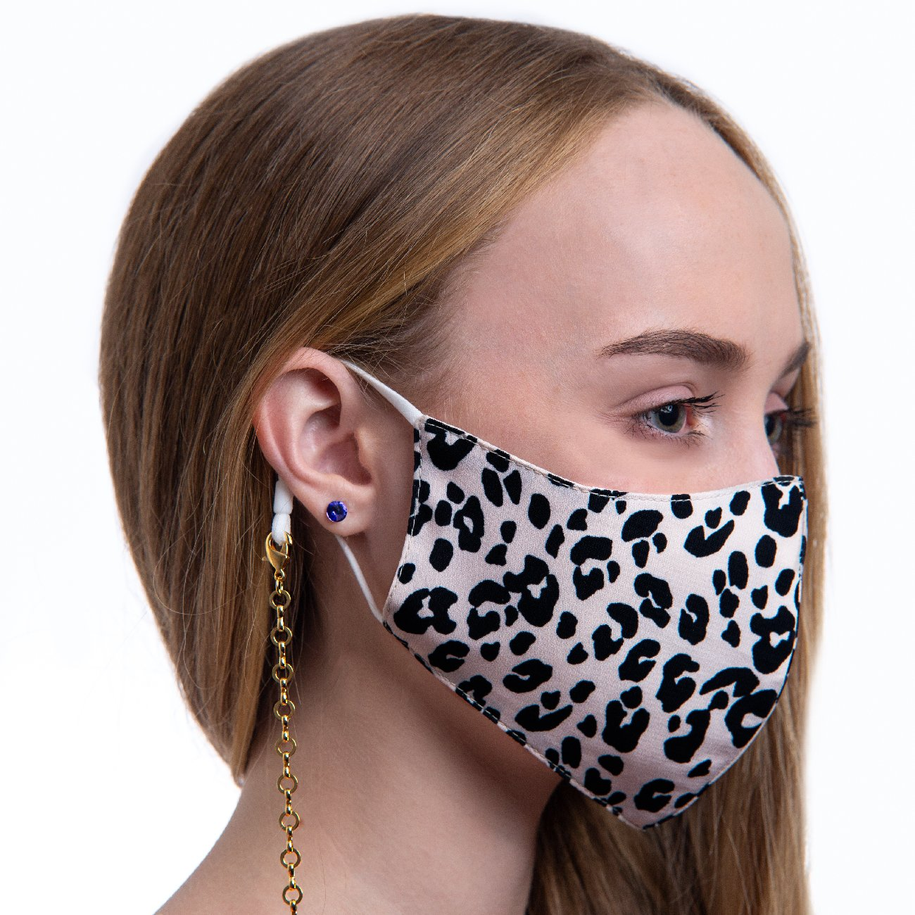 LEOPARD FACE MASK BROWN Unclassified Forevercrystals