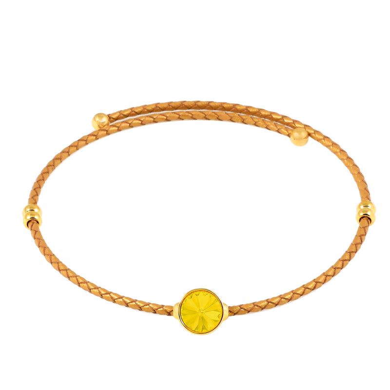 Lily Choker Necklace Gold Yellow Opal