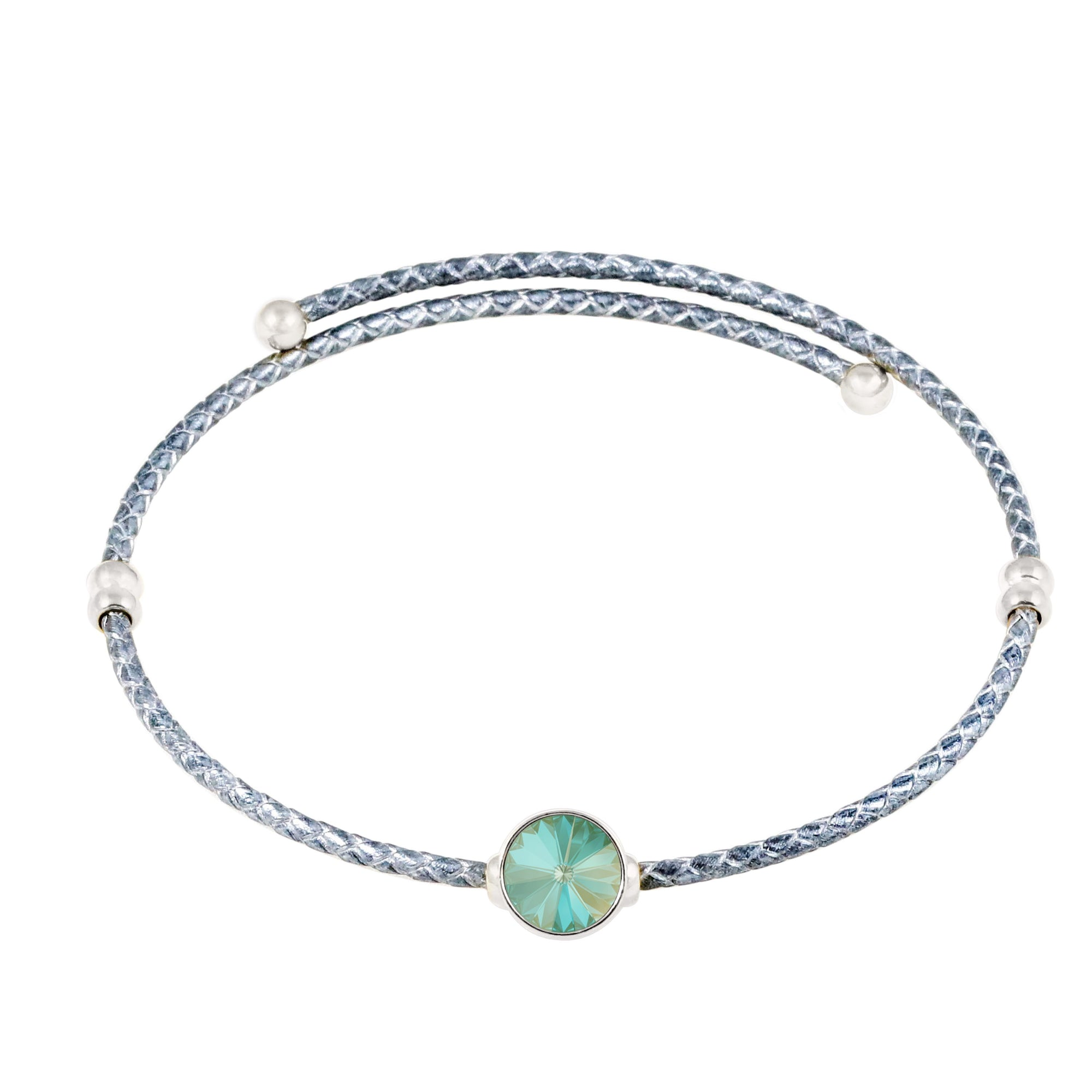 Lily Choker Necklace Silver Radiant Green NEW BEGINNINGS FOREVER CRYSTALS