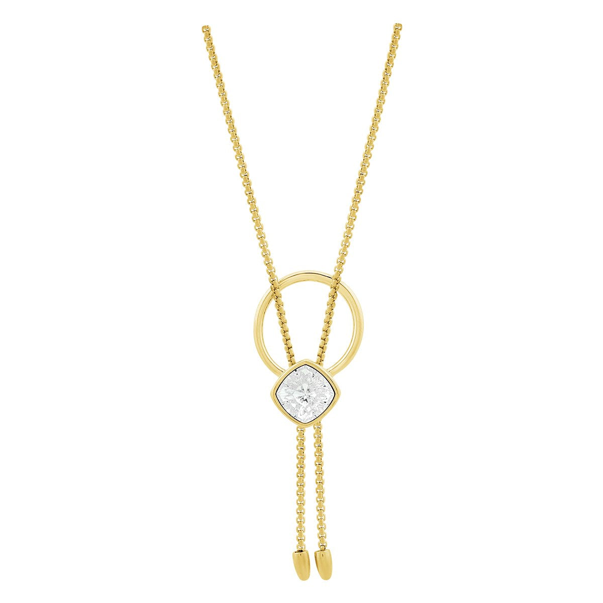 Louvre Necklace Gold Crystal JOY OF SPARKLE FOREVER CRYSTALS