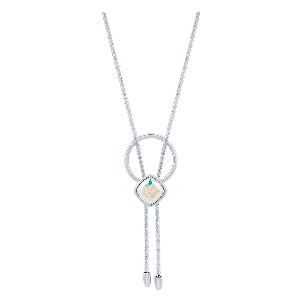 Louvre Necklace Silver Aurora Borealis JOY OF SPARKLE FOREVER CRYSTALS