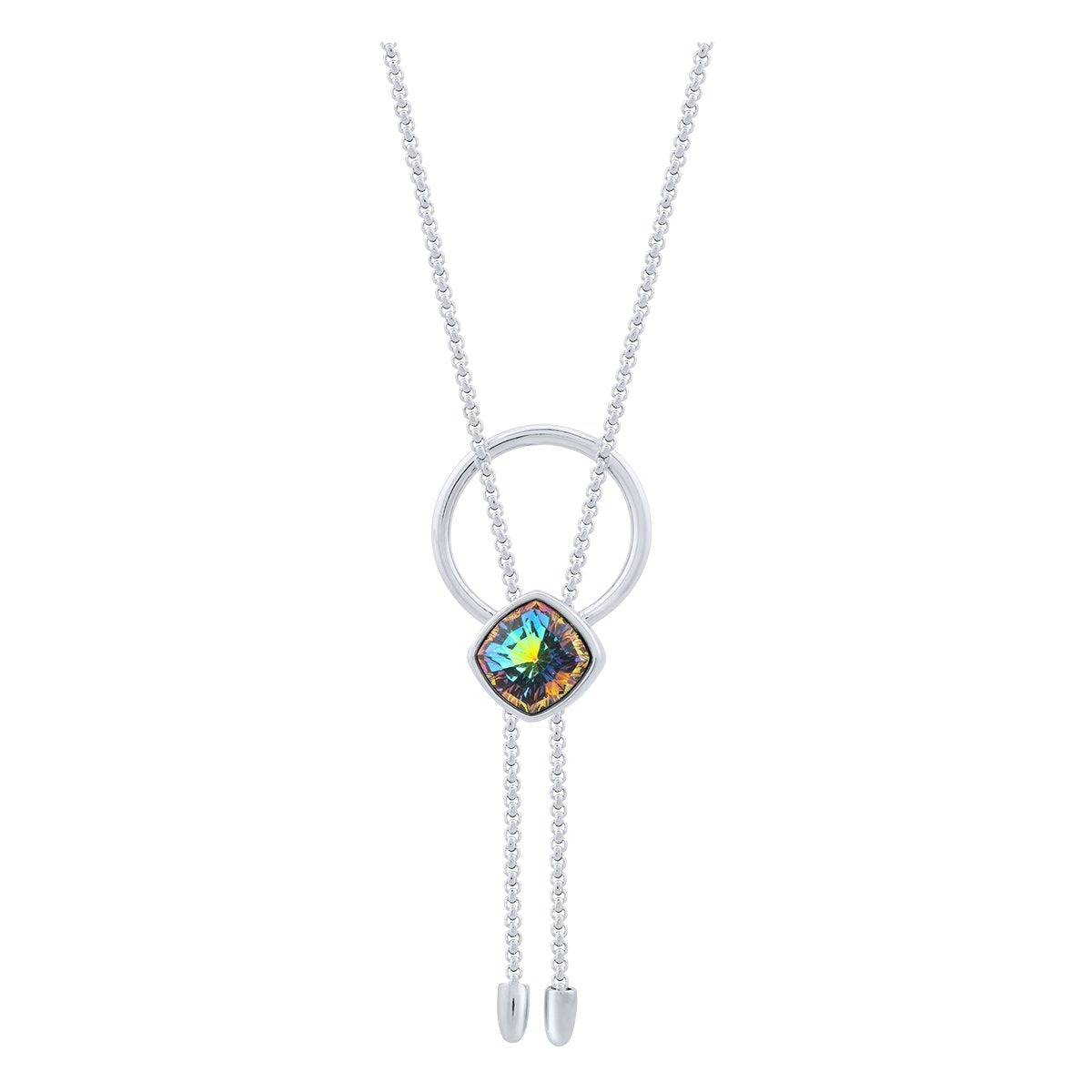 Louvre Necklace Silver Vitrail Medium JOY OF SPARKLE FOREVER CRYSTALS