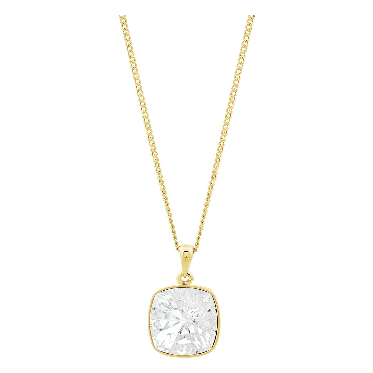 Louvre Pendant Gold Crystal JOY OF SPARKLE FOREVER CRYSTALS