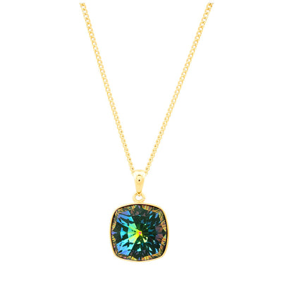 Louvre Pendant Gold Vitrail Medium JOY OF SPARKLE FOREVER CRYSTALS