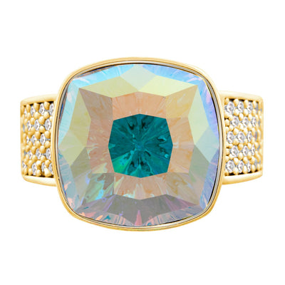 Louvre Ring Gold Aurora Borealis JOY OF SPARKLE FOREVER CRYSTALS