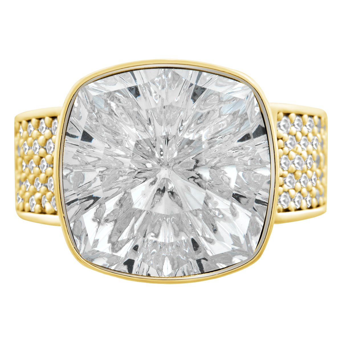 Louvre Ring Gold Crystal JOY OF SPARKLE FOREVER CRYSTALS
