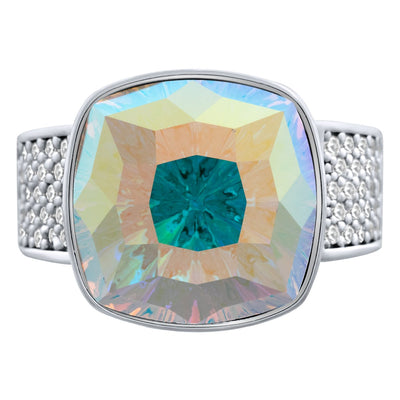 Louvre Ring Silver Aurora Borealis JOY OF SPARKLE FOREVER CRYSTALS