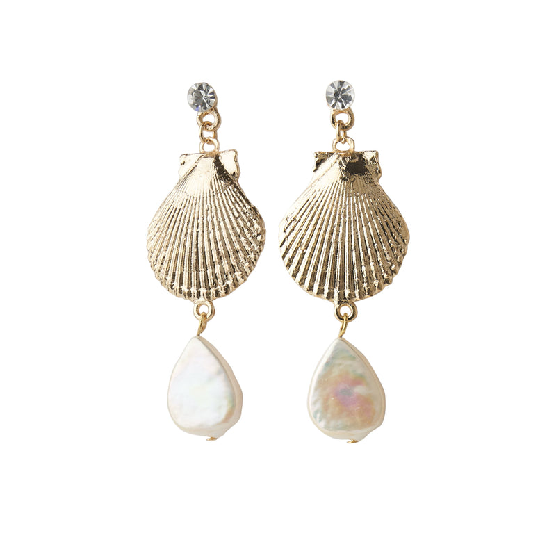 LUAU SHELL EARRING GOLD Unclassified FOREVER