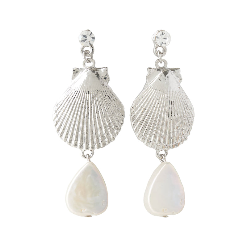 LUAU SHELL EARRING SILVER Unclassified FOREVER