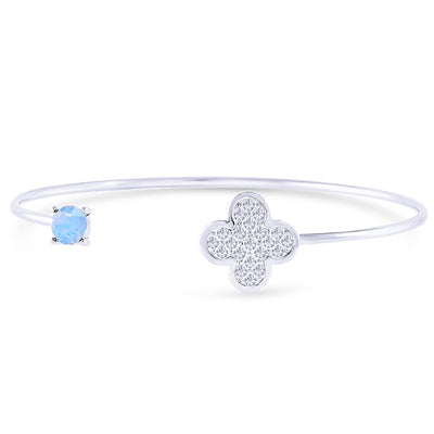 Lucky to Have You Bangle forevercrystals Air Blue Opal