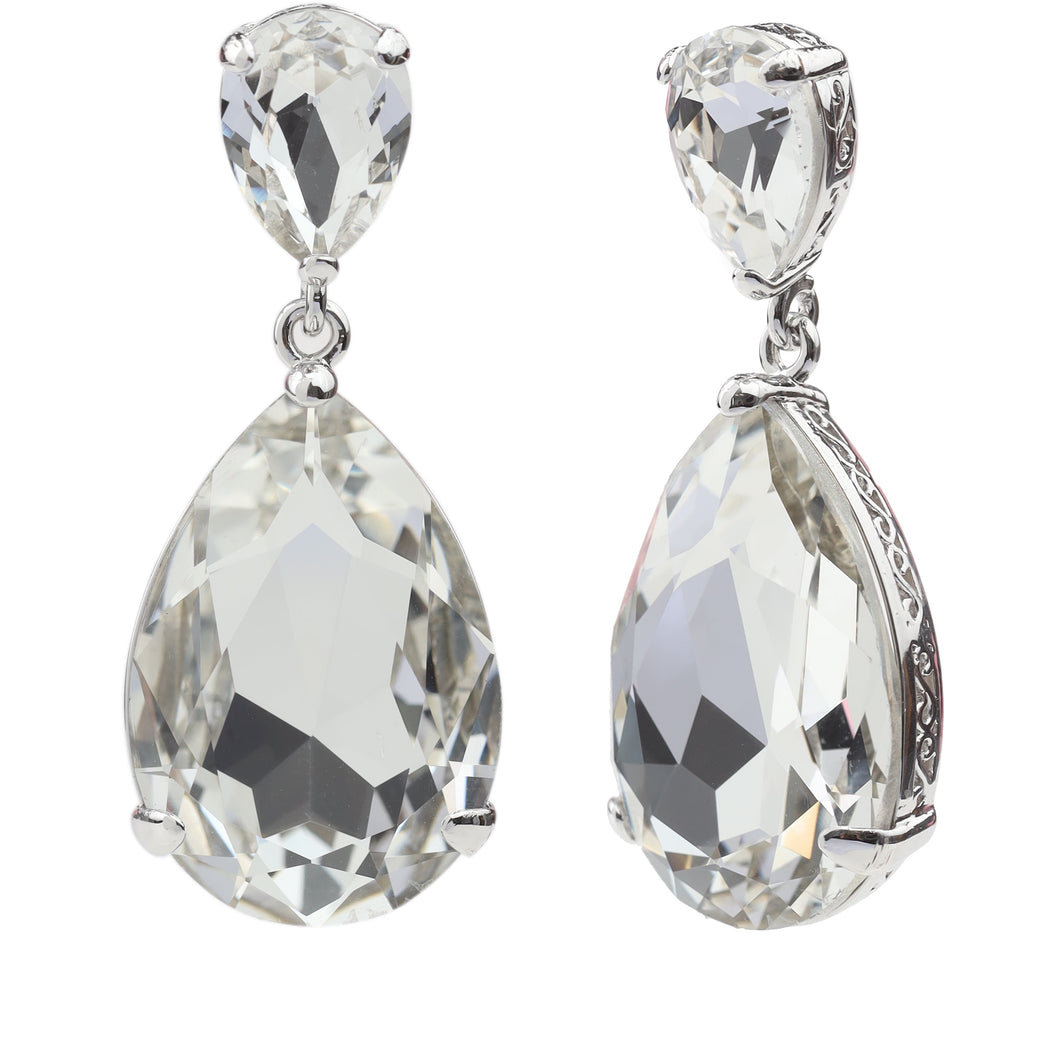 MAJESTIC DROP EARRING CRYSTAL EARRING - FOREVER - ESSENTIALS - CRYSTAL FOREVER