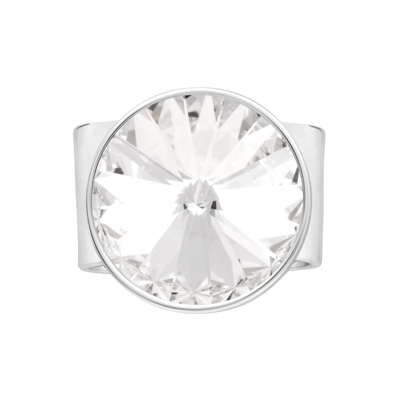 MARBELLA XL THICK BAND RING CRYSTAL RING - FOREVER - ESSENTIALS - CRYSTAL FOREVER