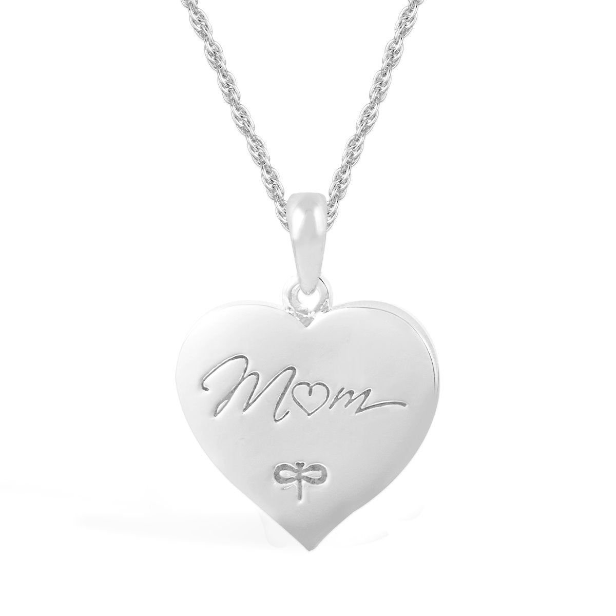 PENDANT MOM LOVE ENGRAVED CRYSTAL