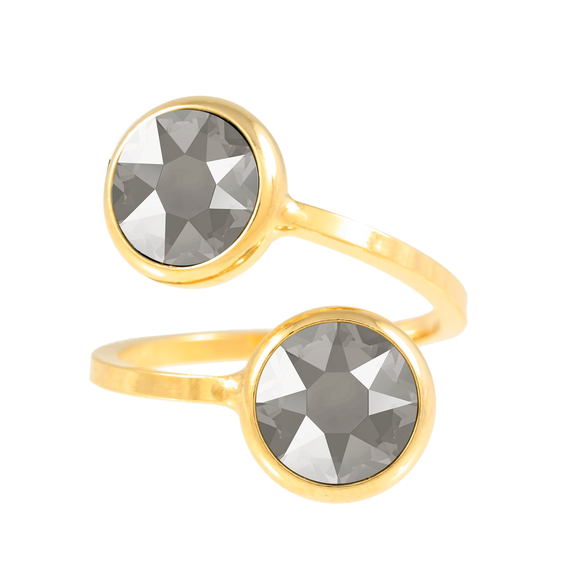 Monroe Ring Gold Dark Grey