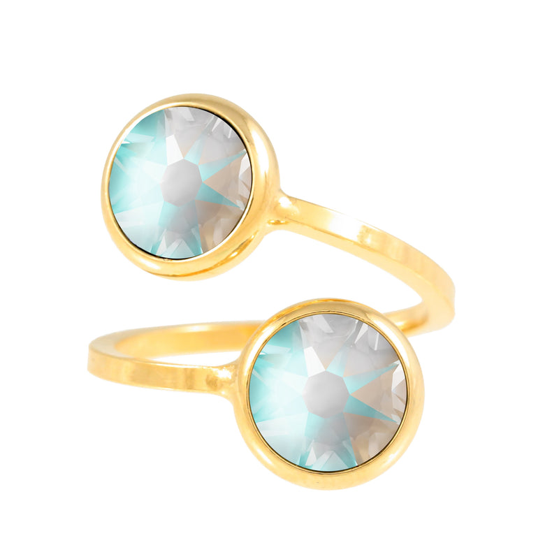 Monroe Ring Gold Light Grey Delite
