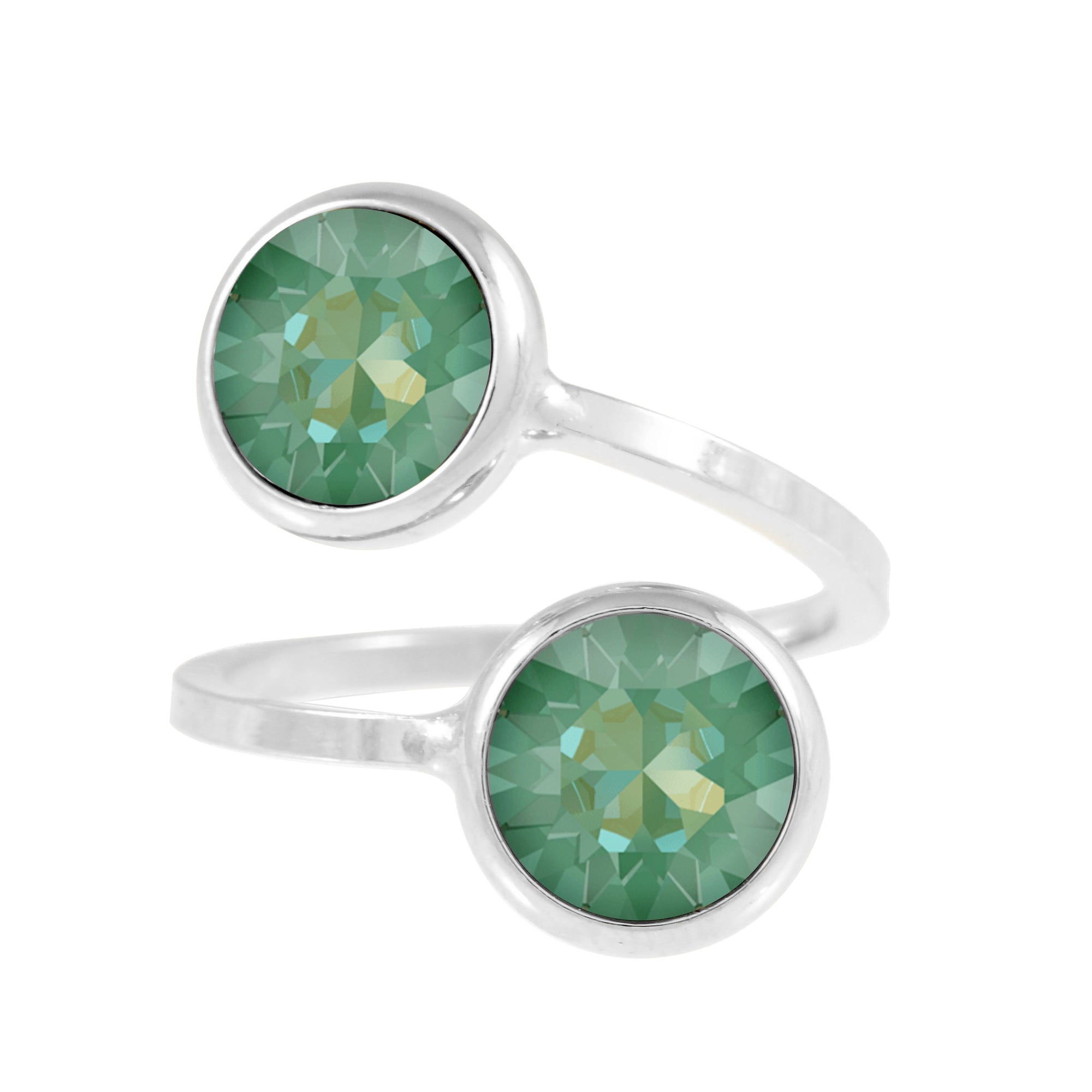 Monroe Ring Silver Radiant Green