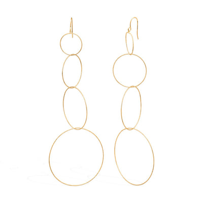 Odalisque Earrings forevercrystals Gold