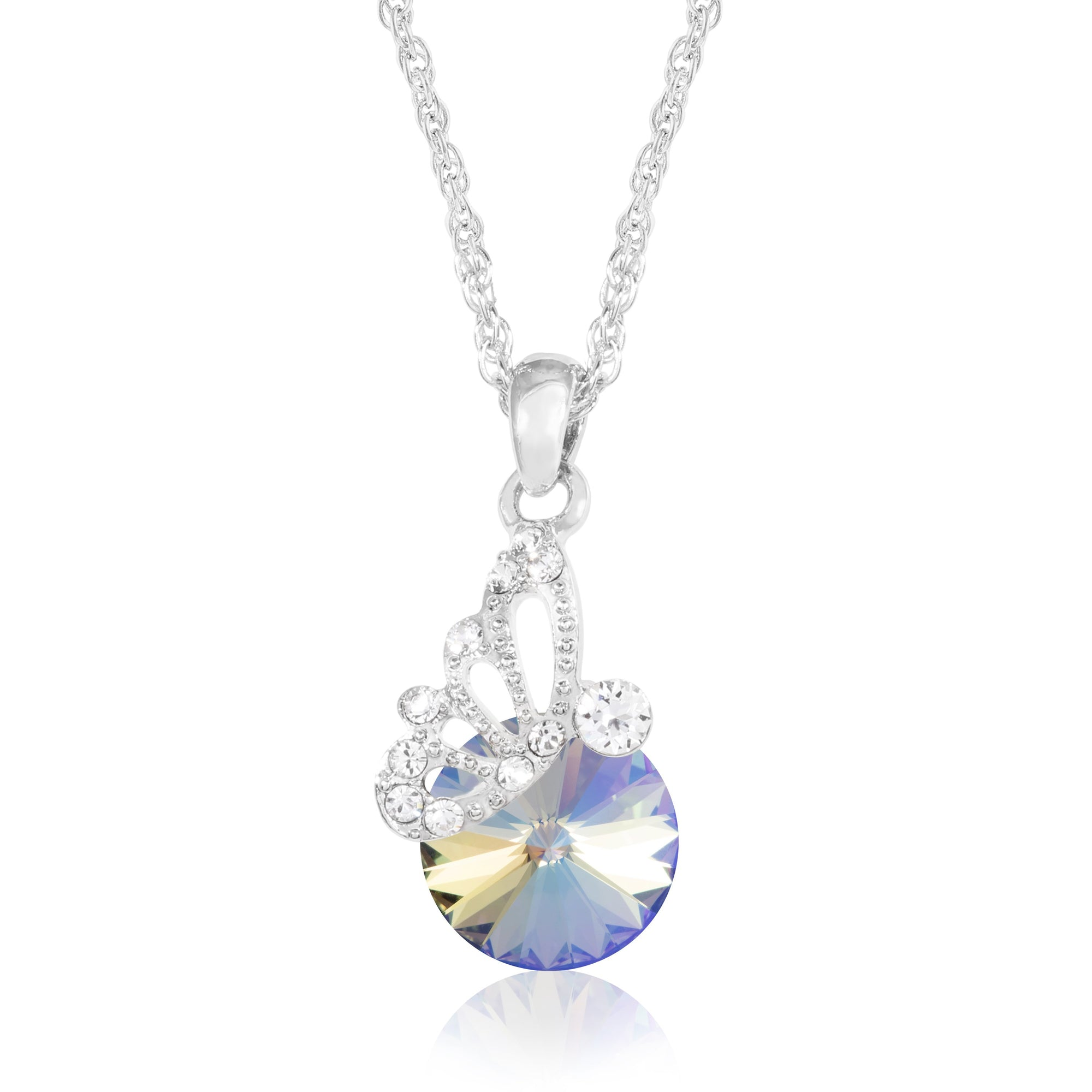 PENDANT BUTTERFLY AND RIVOLI PARADISE SHINE 001