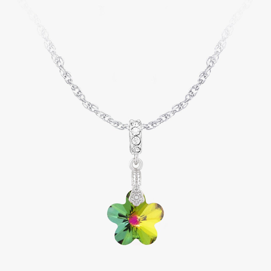 Reflections Flower Pendant 14mm Vitrail Medium REFLECTIONS FOREVER CRYSTALS