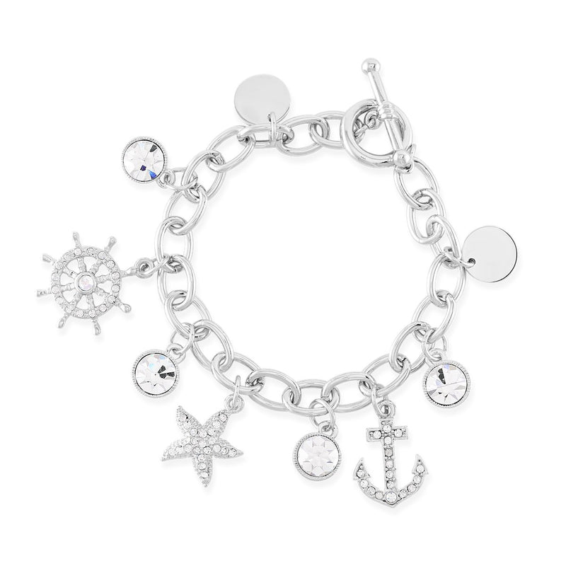Seaside Dreams Charm Bracelet forevercrystals
