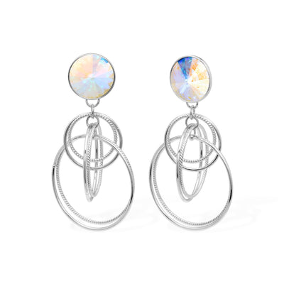 Sophia Earrings forevercrystals Aurora Borealis