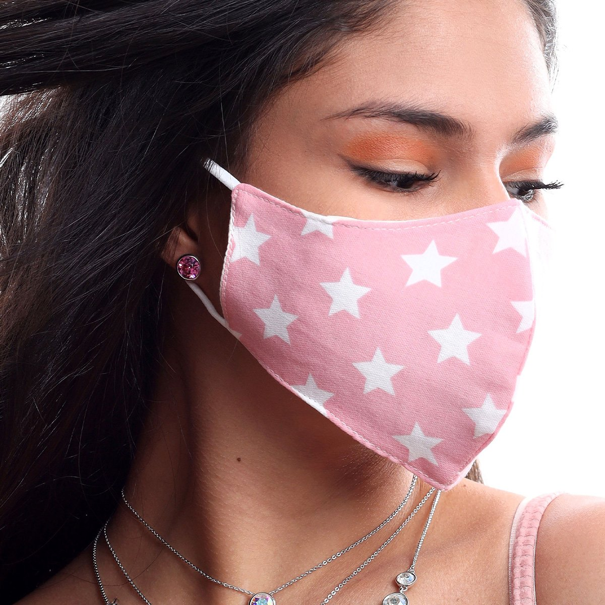 STARS FACE MASK PINK ACCESSORY - FOREVER Forevercrystals