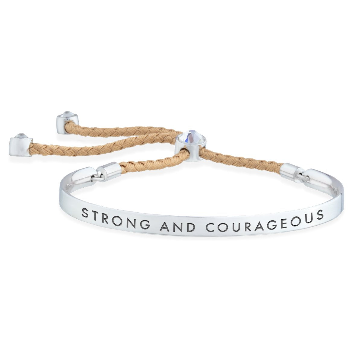 Strong and Courageous – Words of Empowerment Bracelet forevercrystals