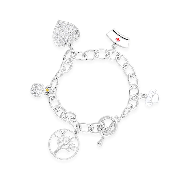 Thank You Mom Charm Bracelet forevercrystals