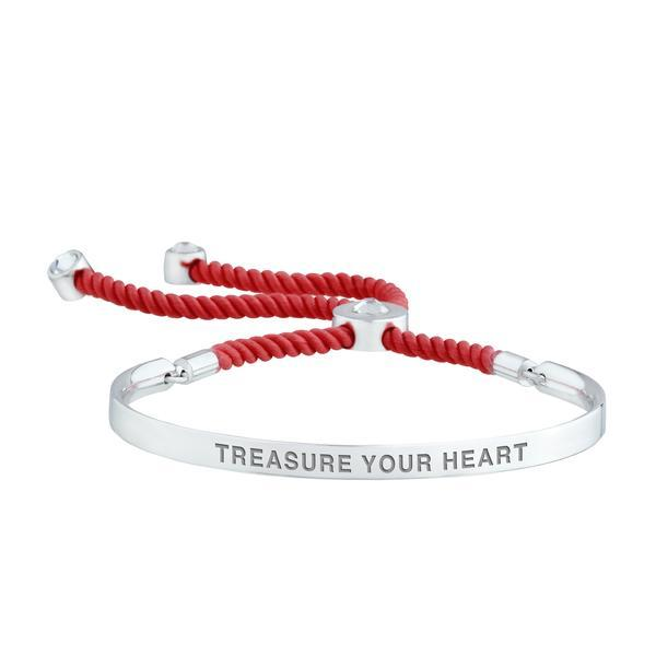 TREASURE YOUR HEART - WORDS OF EMPOWERMENT BRACELET BRACELET - FOREVER - VOIAGE forevercrystals