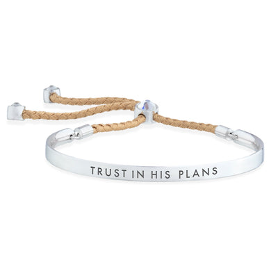 Trust in His Plans – Words of Empowerment Bracelet forevercrystals