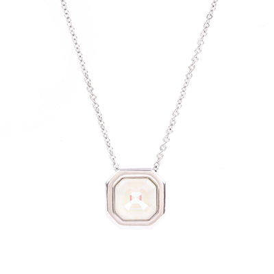 VIOLET SOLITAIRE NECKLACE SILVER LIGHT GREY DELITE NECKLACE - IMPERIAL FOREVER