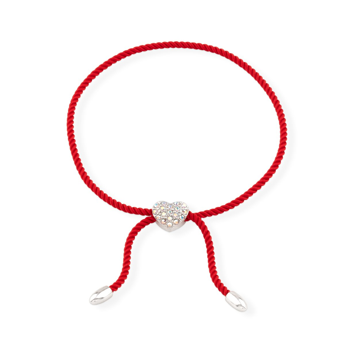 Wear Red Heart Bracelet forevercrystals