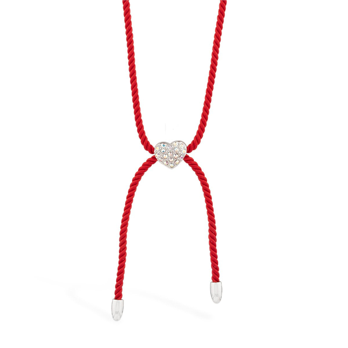 Wear Red Heart Necklace forevercrystals
