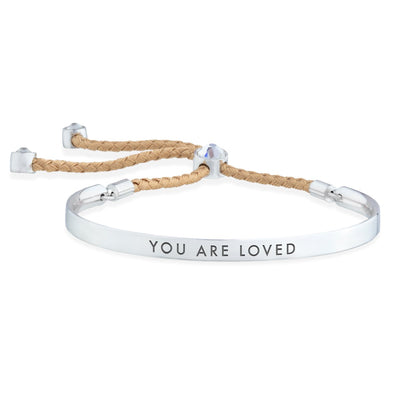 You Are Loved – Words of Empowerment Bracelet forevercrystals