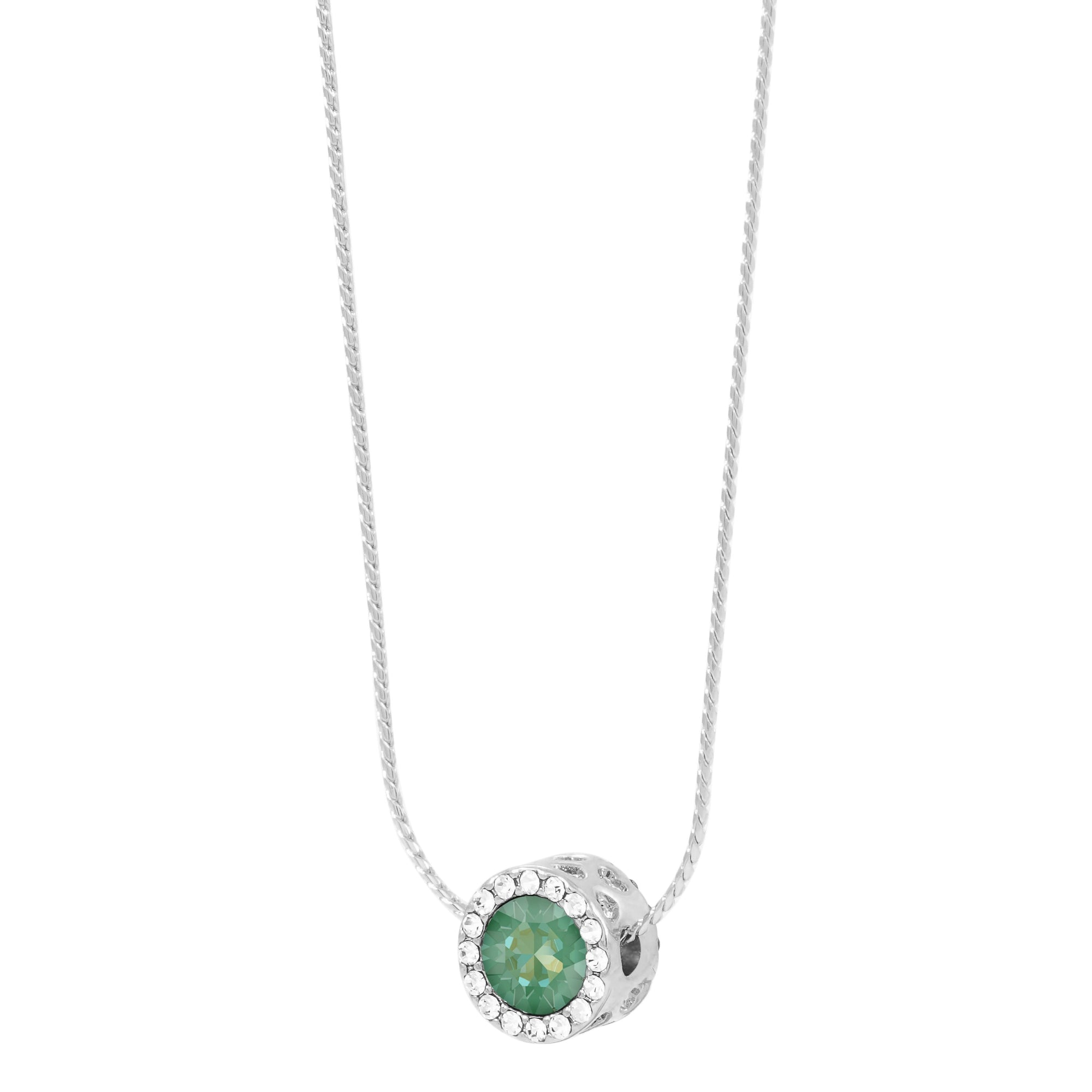 Zinnia Reversible Necklace Silver Radiant Green NEW BEGINNINGS FOREVER CRYSTALS