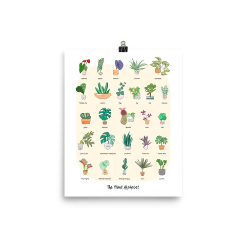 "(COMING SOON) ""The Plant Alphabet"" Art Print"