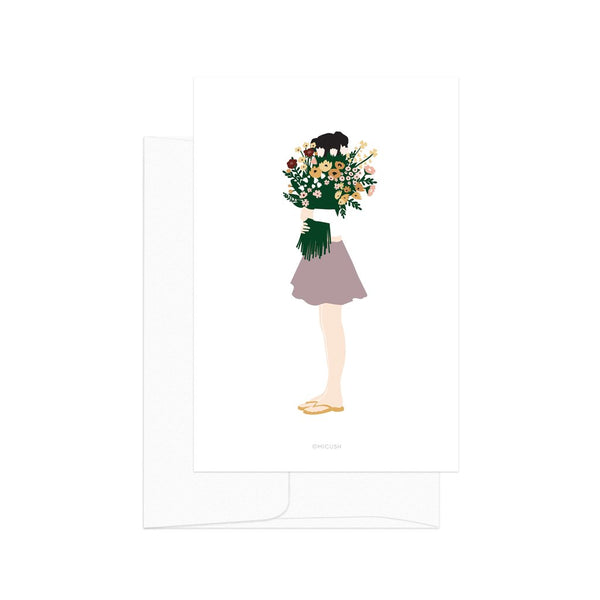 Card - Modern Women - Floral Lady
