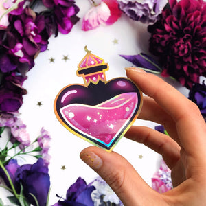 Love Potion Bottle Sticker