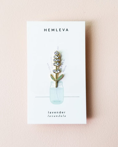 (Seconds Sale) Lavender Enamel Pin