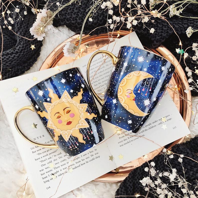 Live by the Sun, Love by the Moon Mugs Set