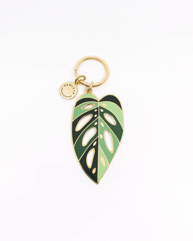 (Seconds Sale) Monstera adansonii 'Archipelago' Keychain