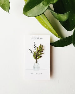 Olive Branch Enamel Pin