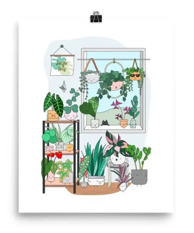 Plant Window Art Print