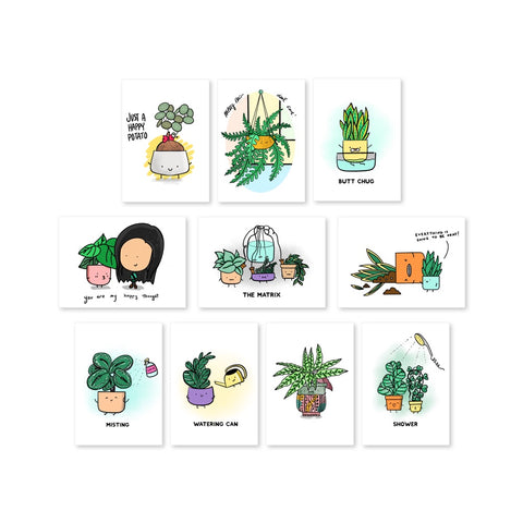 (COMING SOON) Plant Doodles Postcard (Set / Individual)