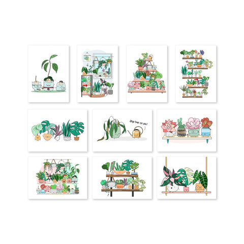 (COMING SOON) The Plant Buddies Postcard (Set / Individual)